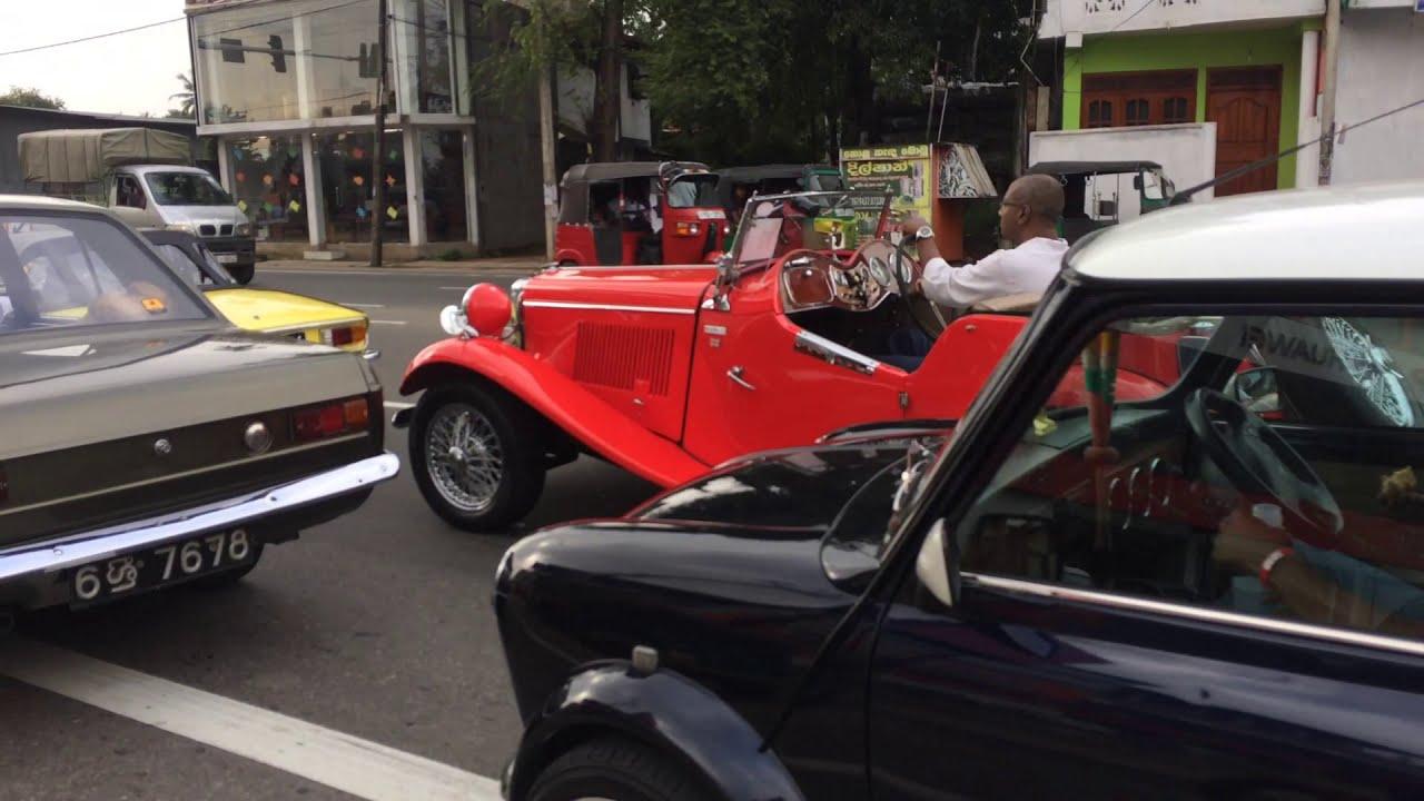 Old Car Parade In Sri Lanka 2017