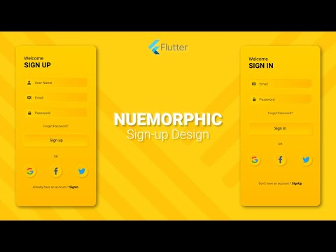 Neumorphic Sign-In And Sign-Up Screen - Flutter Tutorial