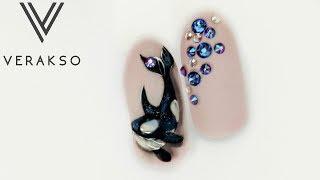 Кит . Рисунки на ногтях. Дизайн ногтей 70