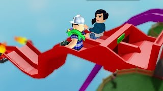 ROBLOX: WHO SLIPS MORE TIMES ON THE SLIDE, WINS!! -Play Old man
