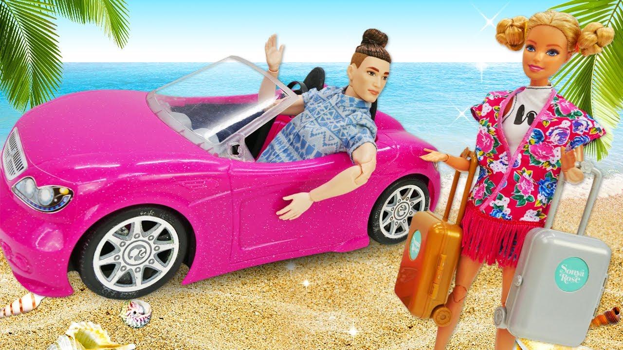 Барби и Кен собираются на море! Тереза хочет сорвать отпуск кукол! Смешные видео для девочек