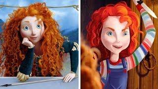 Así es como lucirían las princesas de Disney, si fueran algún personaje de películas de terror