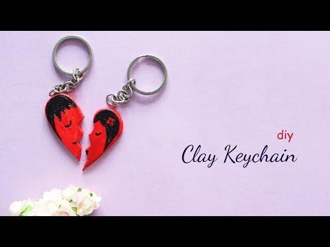 DIY Clay Keychain   Keychain ideas   Clay Art