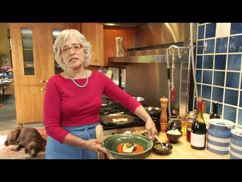 Cindy Pawlcyn's Tips & Tricks:  Grilled Fish With Piquillo Pepper Sauce And Garden Greens