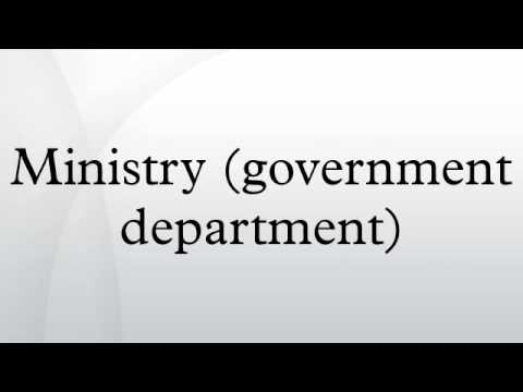 Ministry (government department)