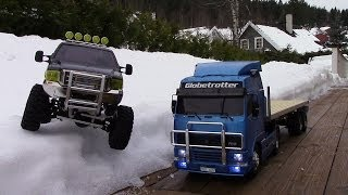 RC TRAIL VOLVO FH12 GLOBETROTTER & FORD F350 HIGH LIFT SNOW EXPEDITION