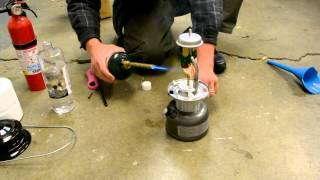 Coleman Duel Fuel Lantern Burning Lamp Oil