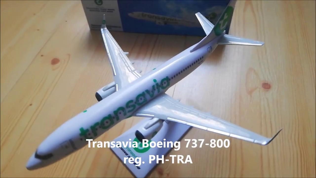 Transavia Airlines Boeing 737-800 plane model unboxing