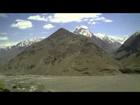Wakhan Valley and Pamir Highway (Tajikistan) with view to Afghanistan and Pakistan
