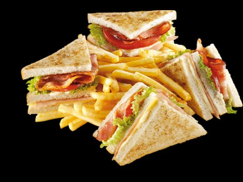 How to make a simple Club sandwich - YouTube