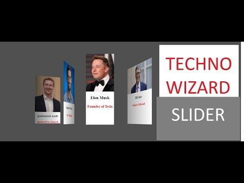 3D SLIDER for Website HTML | CSS | JS | TECHNO WIZARD