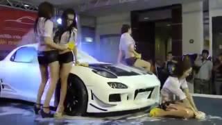 Khi Gái xinh rửa xe ô tô trên nền nhạc sàn   YouTube