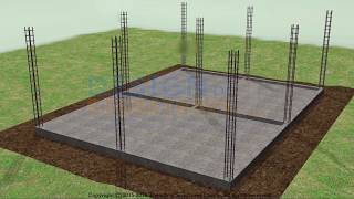 building a house step by step. Full HD.  6-11 day Bricklaying foundation walls.
