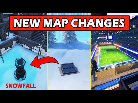 ALL *NEW* MAP CHANGES! SNOWFALL ESCAPED + SECRET BUNKER! FORTNITE BATTLE ROYALE UPDATE! thumbnail