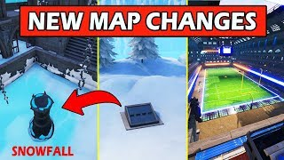 ALL *NEW* MAP CHANGES! SNOWFALL ESCAPED + SECRET BUNKER! FORTNITE BATTLE ROYALE UPDATE!