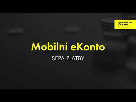 Mobilní bankovnictví -SEPA platby