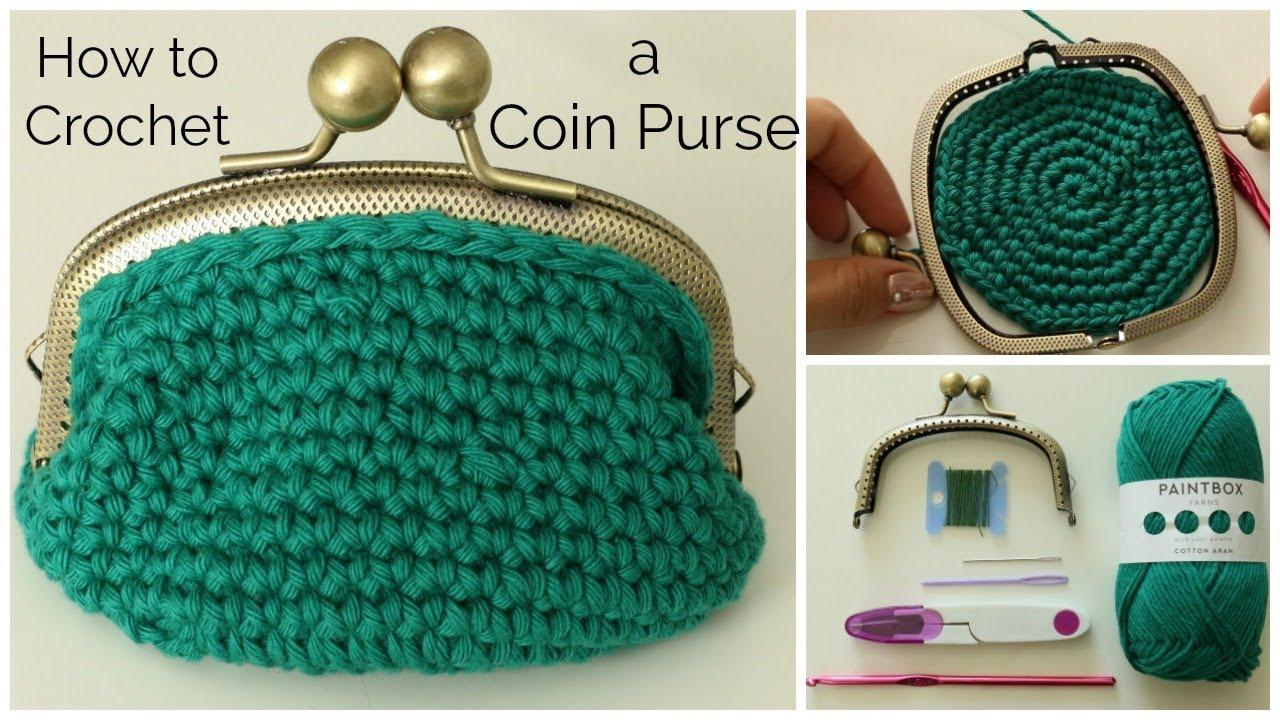 How To Crochet A Coin Purse Youtube