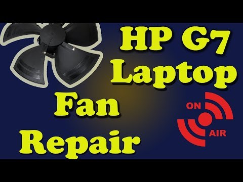 HP G7 Laptop Disassembly Live Diagnostics and Fan Repair