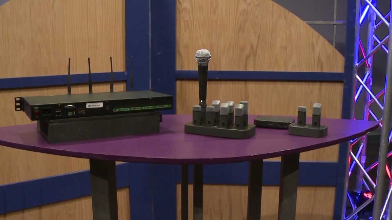 revolabs executive hd 8 channel wireless microphone system overview full compass youtube. Black Bedroom Furniture Sets. Home Design Ideas