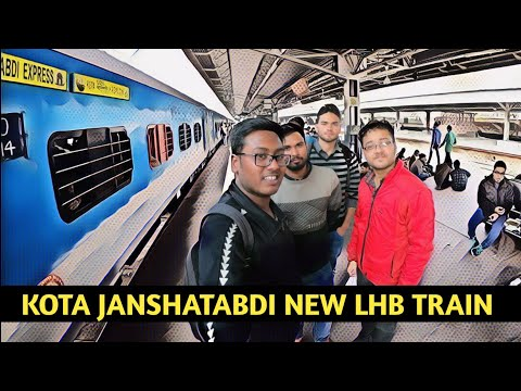 Delhi to Mathura  Kota Janshatabdi Express The New LHB Train