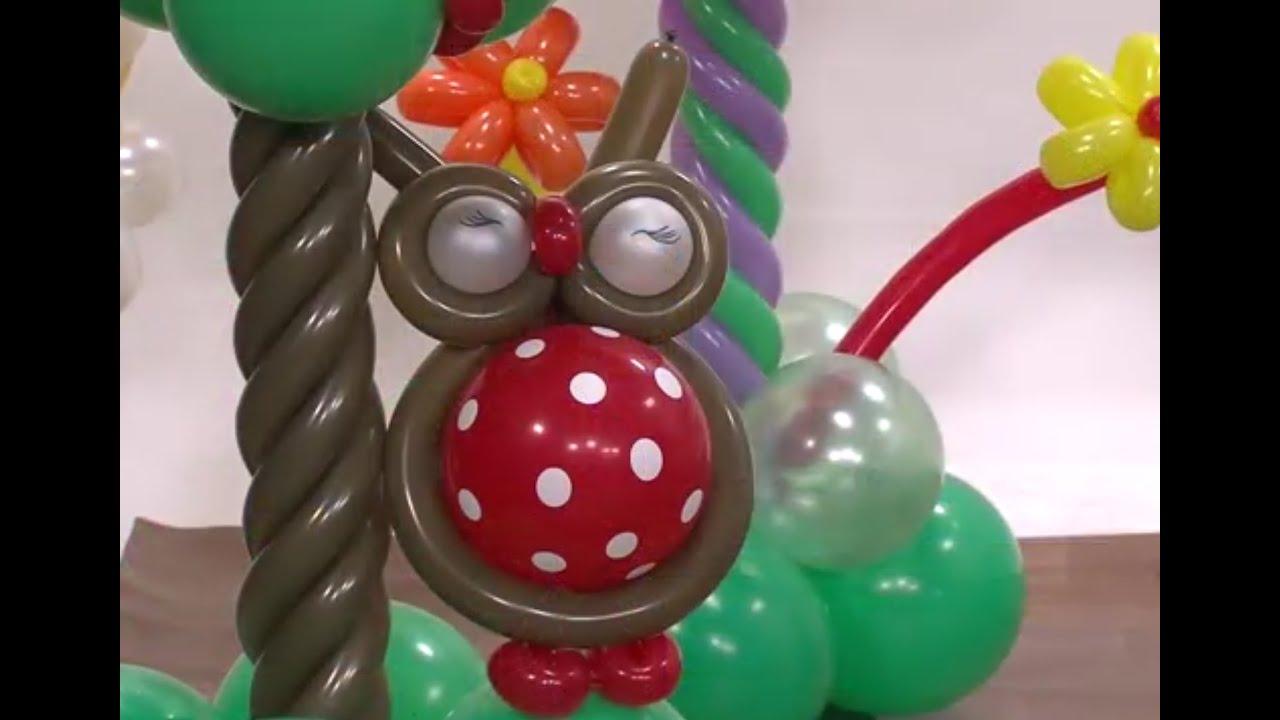 buho con globos para fiestas hogar tv por juan gonzalo angel youtube