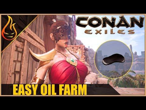 Easy Oil Farm Conan Exiles 2018 Beginner Tips