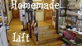 SLOWEST elevator ever? Awesome homemade wheelchair lift elevator in Draper VA