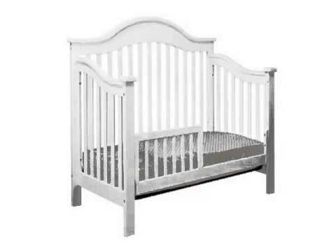 details davinci jayden 4 in 1 convertible crib with toddler rail white slide