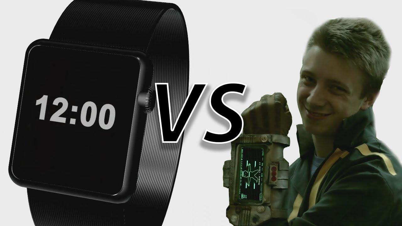 Apple Watch VS Pip boy 3000 PARODY  YouTube