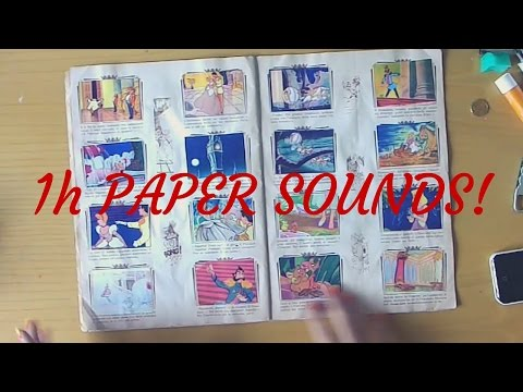 ASMR 1 HOUR  of PAPER SOUNDS  (No Talking!)