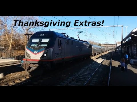 Sunday After T-Giving Railfanning In Old Saybrook, CT Featuring Acela Making A Station Stop 11-26-17
