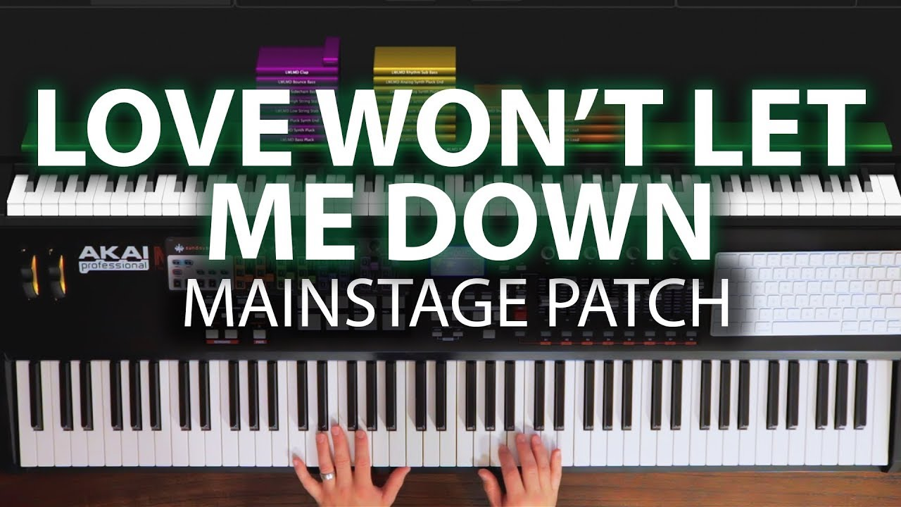 Love Won't Let Me Down MainStage patch keyboard cover- Hillsong Young and  Free