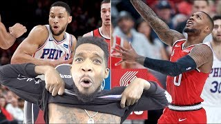 WAIT THEY HAVENT LOST YET!? SIXERS vs TRAIL BLAZERS HIGHLIGHTS