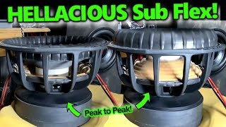 Hellacious Subwoofer Flex! Pride Car Audio 15