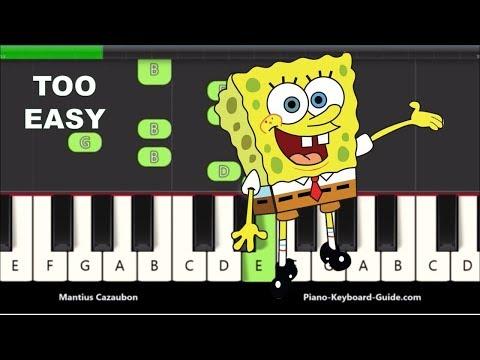 Spongebob Squarepants Theme Song Right Hand Slow Very Easy Piano Notes