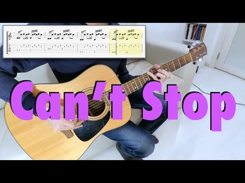 Red Hot Chili Peppers - Can't Stop (guitar cover, tab)