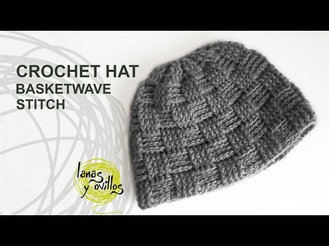 f8fd4bfcef0 Tutorial Basketwave Crochet Unisex Hat in English - YouTube