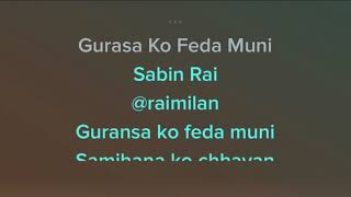 Gurasa ko feda muni karaoke Sabin Rai Nepali Song Karaoke