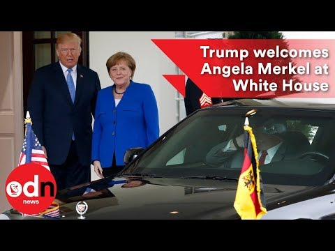 Trump gives Merkel business-like welcome at White House