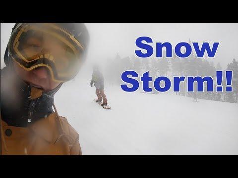 Snowboarding In A Snow Storm At Keystone Colorado - (Season 3, Day 69)