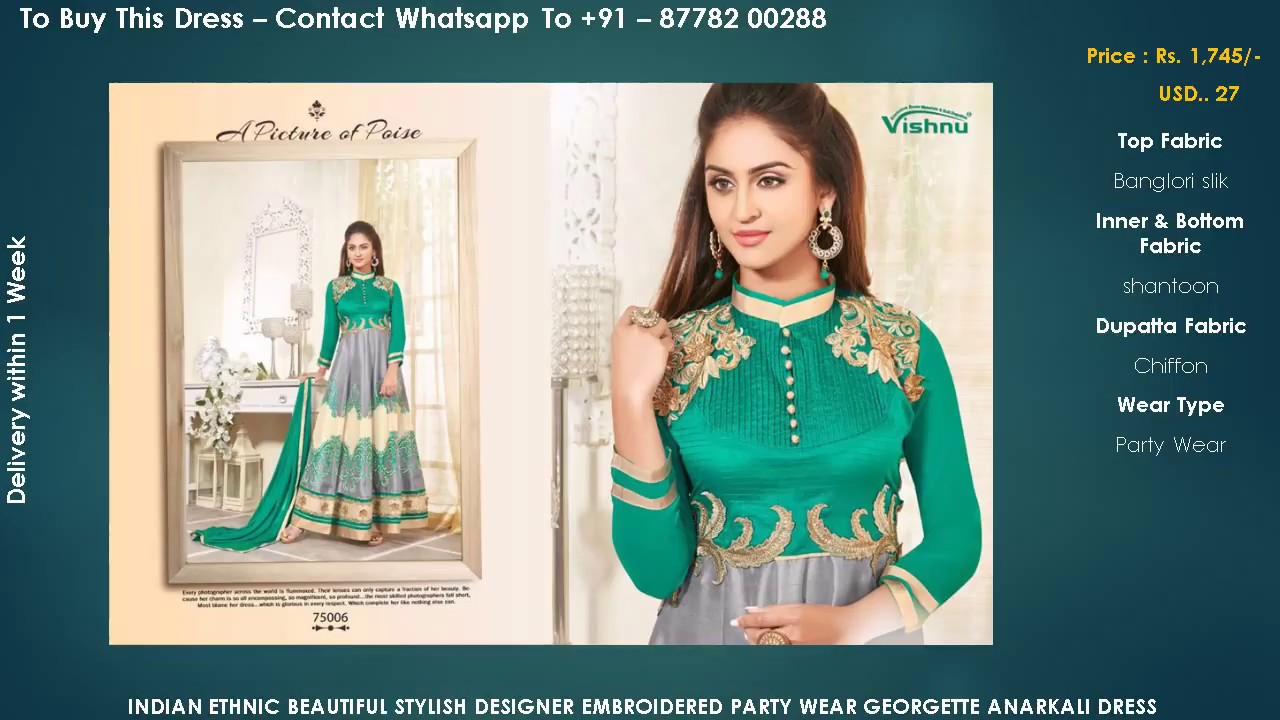 Buy Online - Latest Anarkali Dresses Suit Designs 2017 - 2018 - YouTube