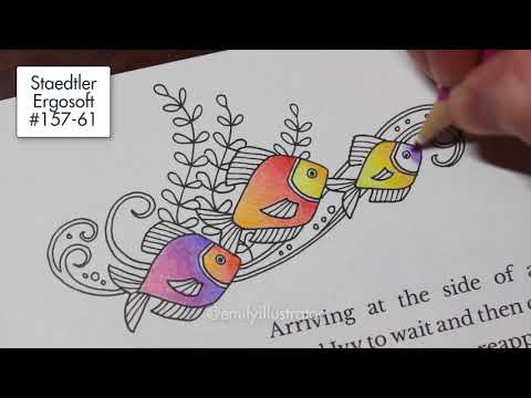 Ivy and the Inky Butterfly - Fish Coloring