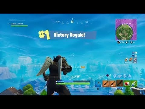 Double Self Rocket Ride -Fortnite- (Guided Missile!)