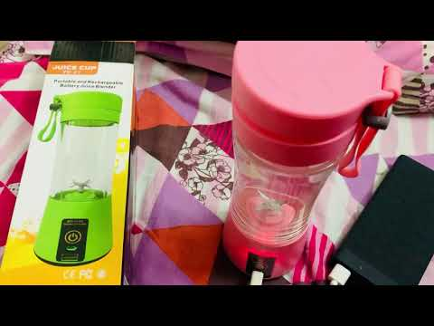 WIVZI Portable Blender, Personal Size Electric Rechargeable USB Juicer Cup, Fruit Mixer at Rasoi.me