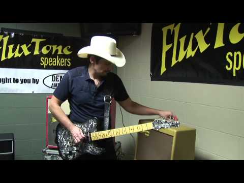 Brad Paisley demos his DAW Tweed amplifier using a FluxTone guitar amp speaker attenuator.
