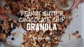 Super Easy Peanut Butter Chocolate Chip Granola