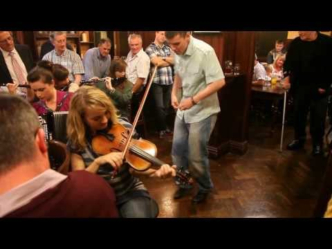 "Traditional ""Sean-nós"" dancing in a Connemara pub"