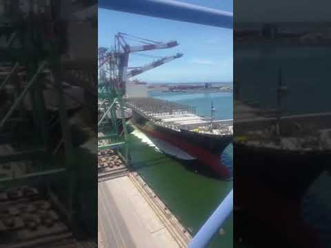 Ship Collision With Shore Crane At Kaohsiung Port Taiwan