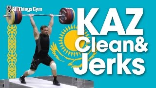 Ilya Ilyin 220kg Clean & Jerk + Vladimir Sedov Zhassulan Kydyrbaev & Co. 2014 Worlds Training Hall