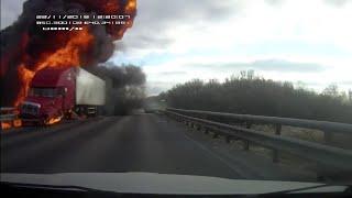 Фото ДТП со взрывом на трассе М-4  22.11.2018